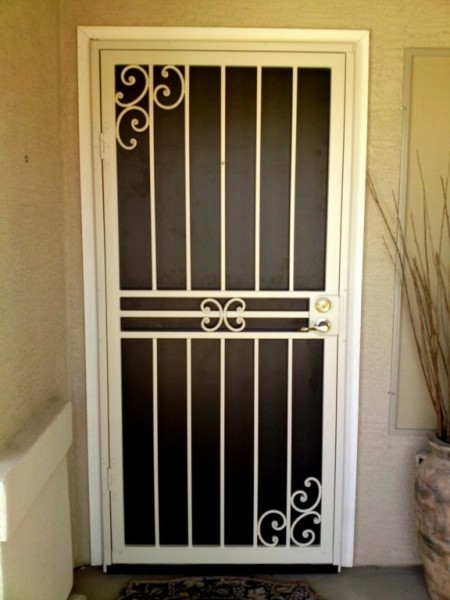 Steel Security Storm Door : Sun control security products by day star screens